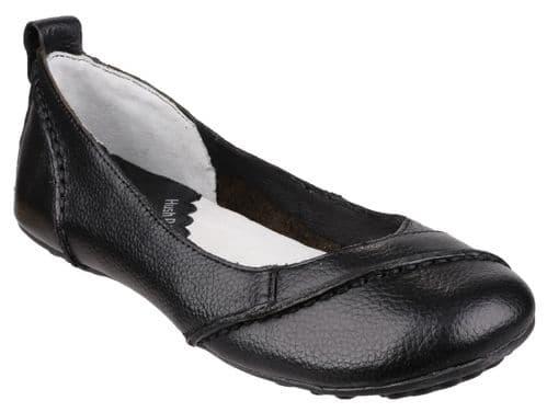 Hush Puppies Janessa Slip On Ladies Shoes Black